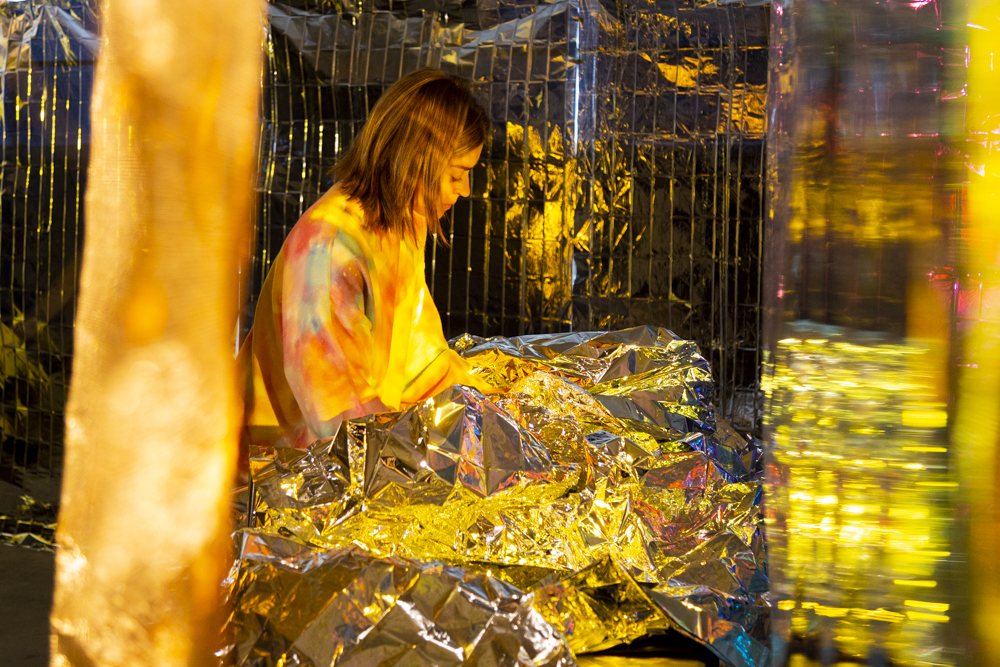 Louise Devenish experiments with materials for Little Operations 2021